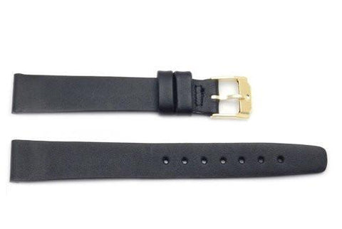 Movado Genuine Black Smooth Leather 14mm Watch Band