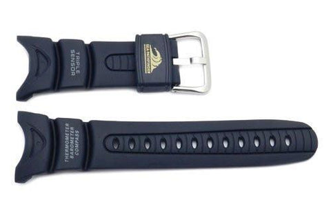Genuine Casio Navy Blue Resin 23mm Sea-Pathfinder Watch Strap