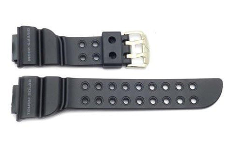 Genuine Casio Black Resin 16mm Frogman Solar G-Shock Watch Strap- 10271341