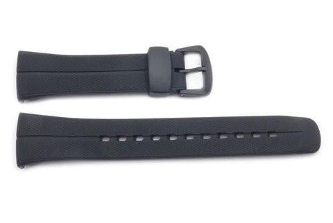Genuine Casio Black Resin 17mm Watch Strap- 10187727
