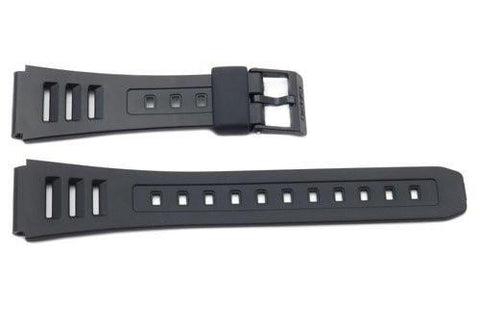 Genuine Casio Black Resin 19mm Watch Strap- 71604153