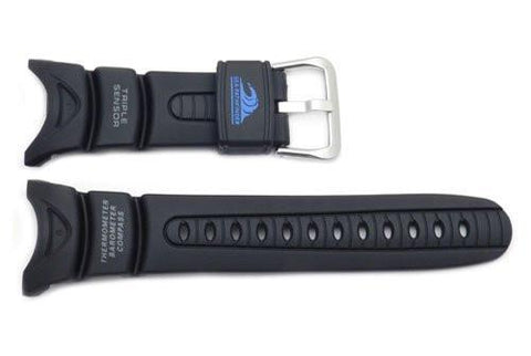 Genuine Casio Sea-Pathfinder Black Resin 23mm Watch Strap- 10045754