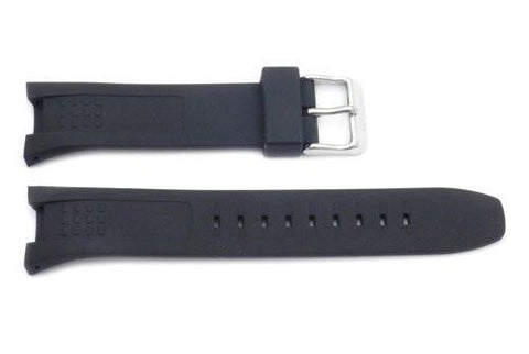 Genuine Seiko Black Rubber 23mm Watch Strap