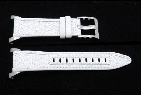 Seiko Ladies Sportura Chronograph White Leather 20mm Watch Strap