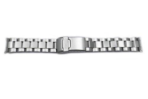 Seiko Stainless Steel 18mm Double Locking Fold-Over Clasp Watch Bracelet