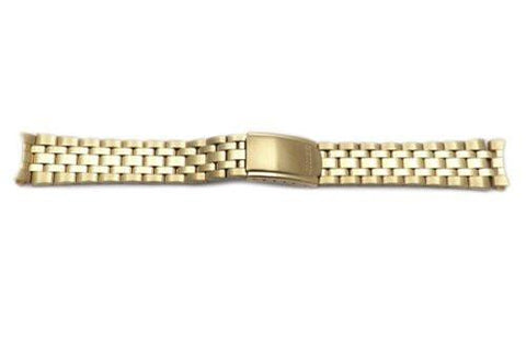 Seiko Gold Tone Fold-Over Clasp 18mm Metal Watch Bracelet