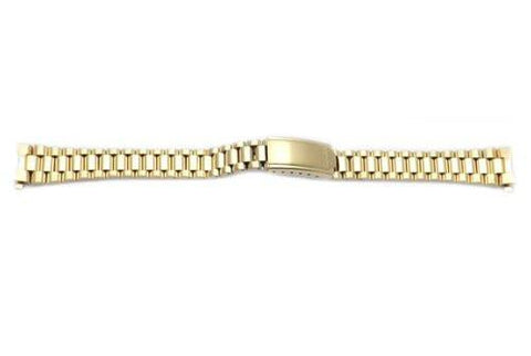 Seiko Ladies Gold Tone Fold Over Clasp 13mm Watch Bracelet