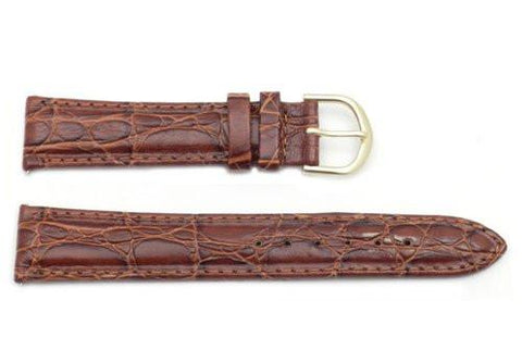 Timex Brown Crocodile Grain 18mm Watch Band