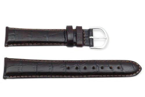 Timex Dark Brown Crocodile Grain 18mm Watch Band