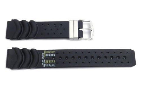Genuine Rubber Black 20/24mm Watch Strap by Citizen