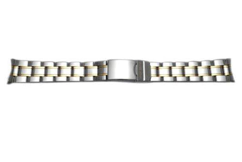 Large Stainless Steel Dual Tone 19mm Bracelet for Officers Series