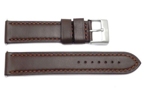 Swiss Army Brown Leather Ambassador Watch Strap