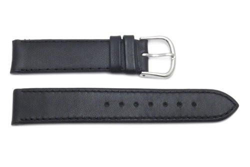 Genuine Swiss Army 18mm Small Black Leather Strap