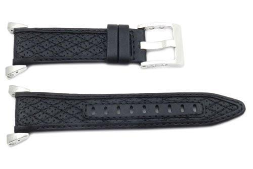 Genuine Seiko Sportura 30/20mm Black Leather Watch Band - 4A452JL
