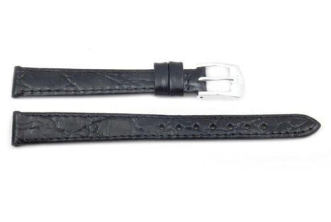 ZRC Genuine Leather Crocodile Grain Waterproof Anti-Allergic Watch Strap