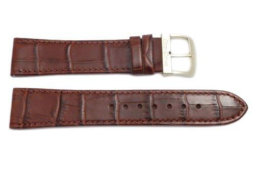 Citizen Eco-Drive Genuine Textured Brown Leather Alligator Grain 20mm Watch Band