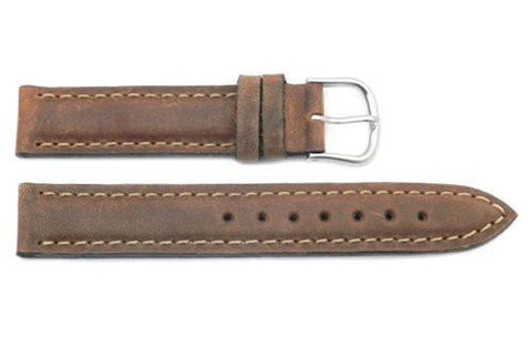 Swiss Army Summit Smooth Brown Leather 16mm Watch Band