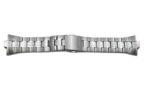 Pulsar Silver Tone Stainless Steel Push Button Fold-Over Clasp 27/8mm Watch Bracelet