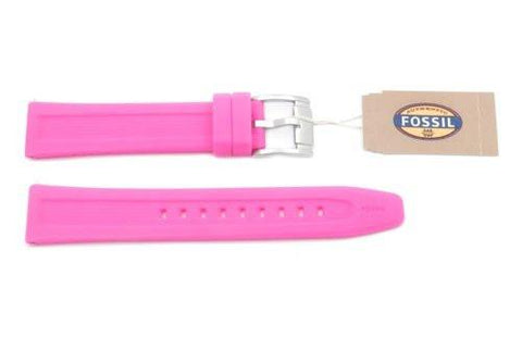 Fossil Pink Silicone Textured Sport 18mm Watch Strap