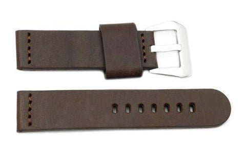 Genuine Leather Smooth Brown Panerai 22mm Watch Strap