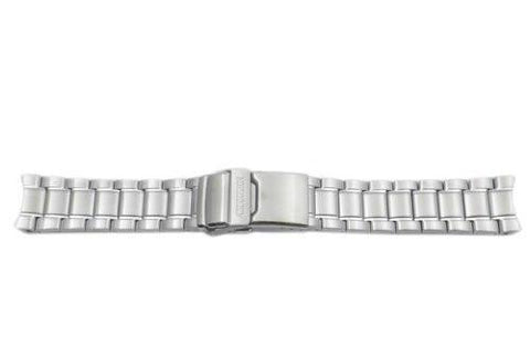 Citizen Silver Tone Stainless Steel Double Locking Fold-Over Clasp 22mm Watch Bracelet