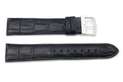 Citizen Eco-Drive Genuine Textured Leather Black Alligator Grain 20mm Watch Band