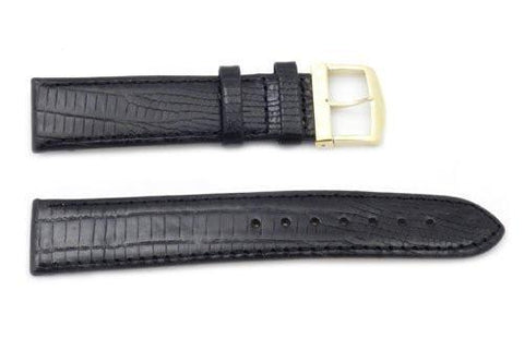 Citizen Eco-Drive Textured Leather Black Lizard Grain 19mm Watch Strap