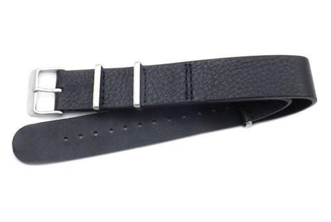 Hadley Roma One Piece Textured Leather Nato Style Watch Strap