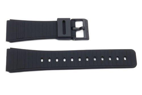 Genuine Casio Black Resin 25/22mm Watch Strap- 70378364