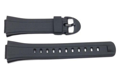 Genuine Casio Black Resin 27/16mm Watch Strap- 10090624