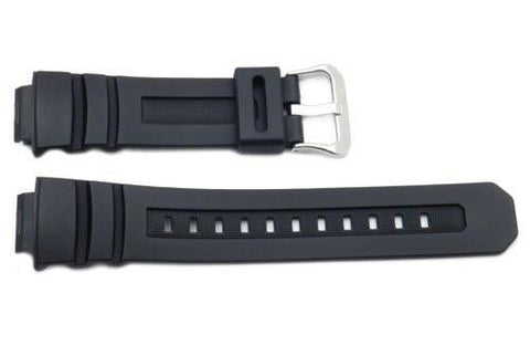 Genuine Casio Black Resin 25.5/16mm Watch Band- 10273059