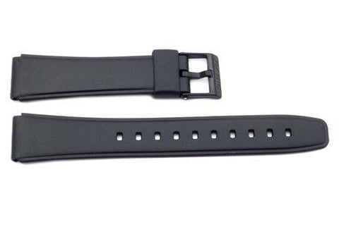 Genuine Casio Black Resin 20/17mm Watch Strap- 10222860