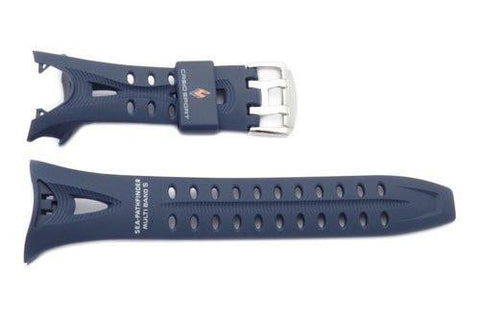 Genuine Casio Sea-Pathfinder Sport Navy Blue Resin 19/12mm Watch Strap- 10231233