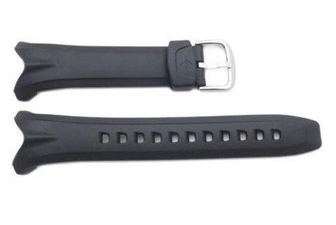 Genuine Casio Black Resin 25mm Watch Strap- 10057000