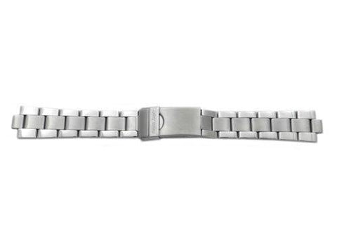 Swiss Army Officer's Ratchet Silver Tone Stainless Steel 17/8mm Watch Bracelet