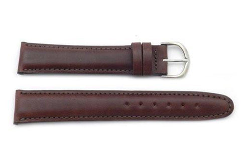 Seiko Brown Smooth Leather 20mm Long Watch Strap