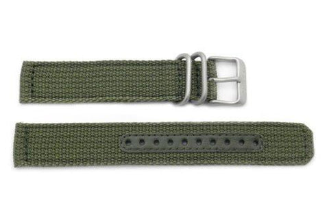 Genuine Seiko Military Automatic Olive Green Nylon 18mm Watch Strap