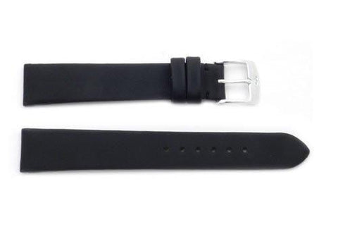 ZRC Black Leather Techno Satin Style Ladies Watch Strap