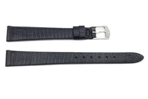 Genuine Movado 14mm Black Genuine Tropic Lizard Long Watch Strap