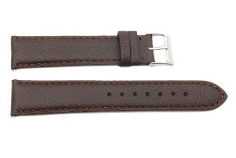 Genuine Swiss Army Garrison Brown Textured Leather 20mm Watch Strap