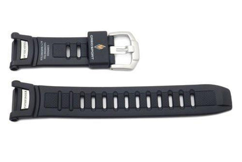 Genuine Casio Pathfinder Atomic Solar Black Resin 25.5/16mm Watch Strap- 10290989