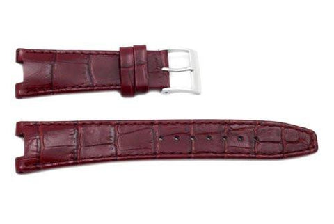 Seiko Coutura Burgundy Textured Calfskin Alligator Grain 20/9mm Watch Strap