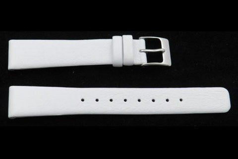 Kenneth Cole Reaction Genuine Textured Leather White Square Tip 16mm Watch Strap