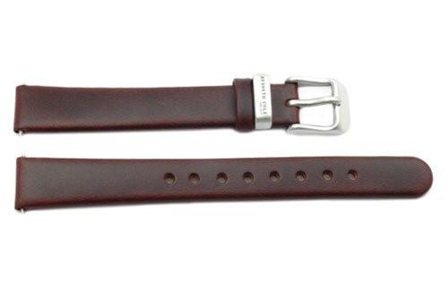 Kenneth Cole Genuine Leather Smooth Brown 14mm Watch Strap