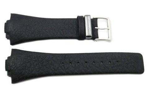 Kenneth Cole Genuine Black Textured Leather 31/17mm Watch Strap