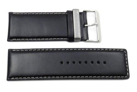 Kenneth Cole Reaction Genuine Smooth Black Leather Square Tip 32mm Watch Strap