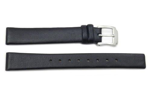 Kenneth Cole Genuine Smooth Black Leather Square Tip 14mm Watch Band