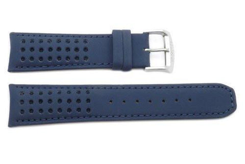 Citizen Dark Blue Water Resistant Leather 23mm Watch Strap