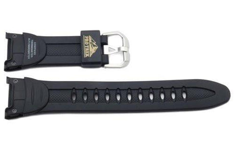 Genuine Casio Protrek Black Resin 28.5/17mm Watch Strap- 10078211