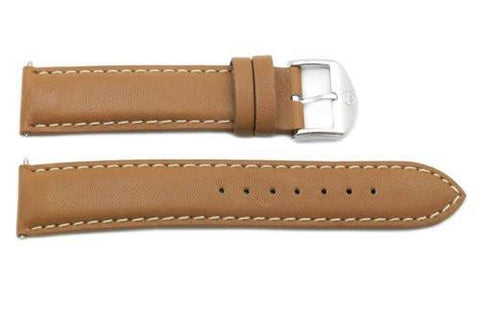 Movado Genuine Smooth Leather Tan 19mm Watch Strap